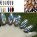 1 g/caja DIY Shinning Chrome Espejo Polvo Holográfica Láser Plata Cromo Pigmento En Polvo Decoración de Uñas Glitters Nail Powder