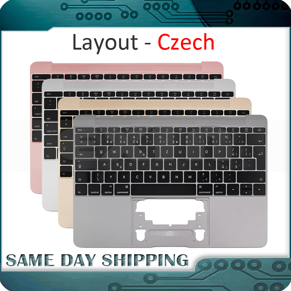 For Macbook 12'' A1534 Czech Keyboard w/ Topcase 2015 2016 2017 Years Gold/Gray/Silver/Rose Gold Color porcelaine czech gold hand овальное блюдо сакура porcelaine czech gold hand s r o 26 см
