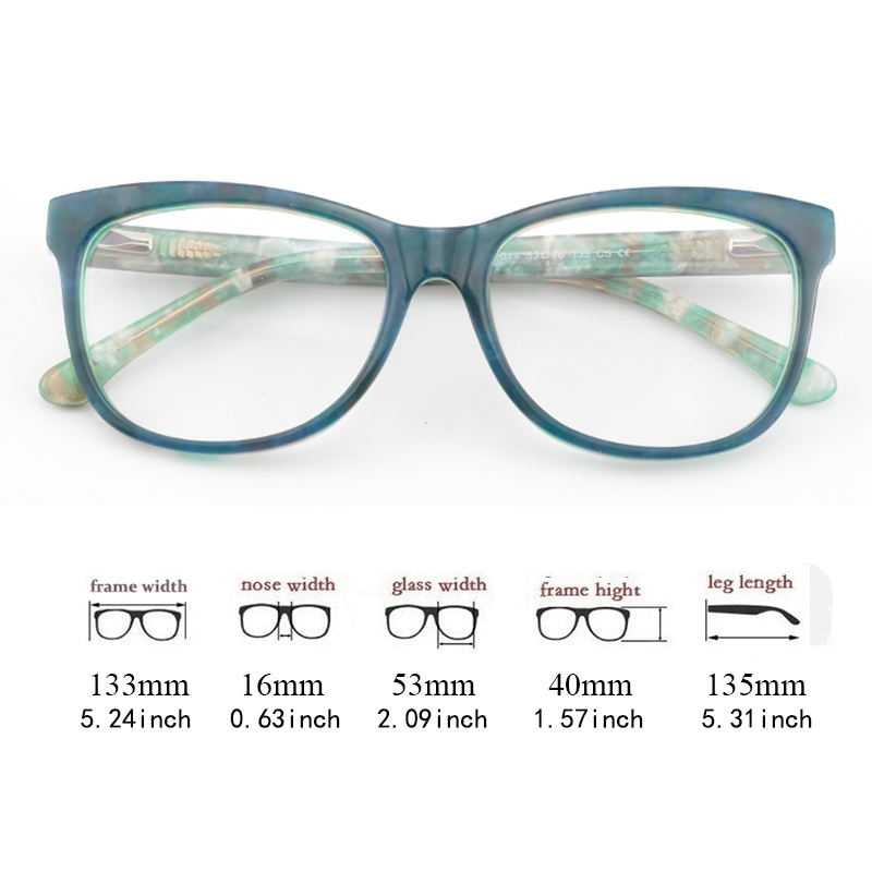 9b3d6573f561 Товар Cardinal 2018 Unique Design Women Eyeglasses Frame Fresh Green ...