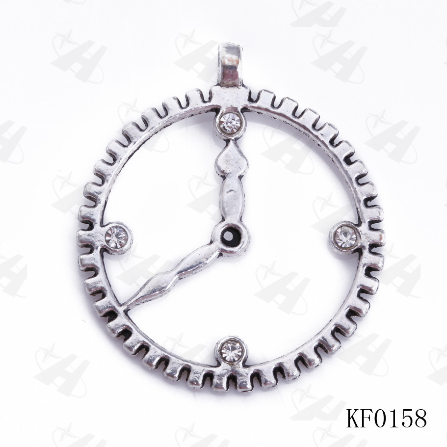 10 pcs in Wholesale DIY Jewelry Vintage Clock Charms Origami Owl Necklace Charm Origami Owl Pendants for Jewelry Making
