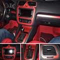 Para Volkswagen VW Scirocco/EOS Interior Panel de Control Central manija de puerta de fibra de carbono pegatinas calcomanías de estilo de coche accessories