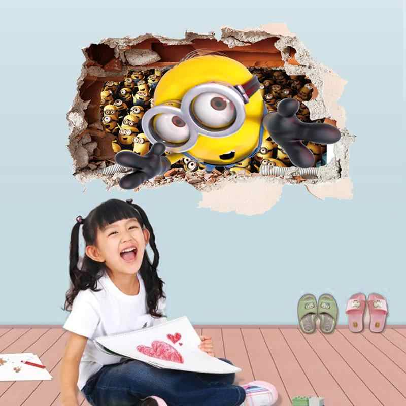 Minions door muurstickers kinderkamer decoraties 9268. Diy thuis decals window mural art cartoon movie printen posters 3.0