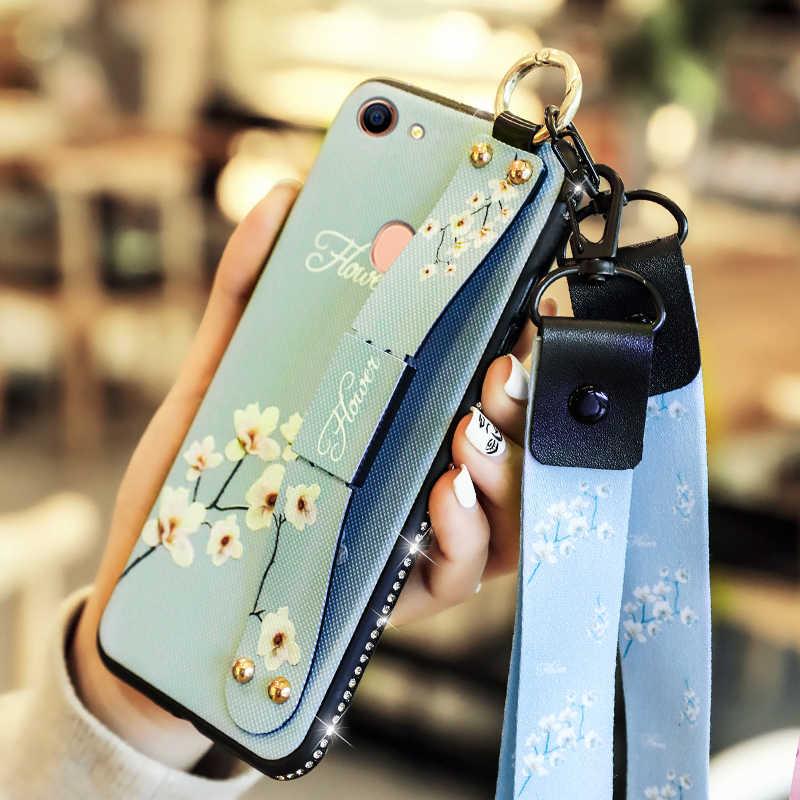 YueTuo スタンドケース oppo A3 A5 A7 A9 A33 A37 A57 A77 A53 A59 A73 A79 A83 高級指リングダイヤモンドリストストラップ電話カバー