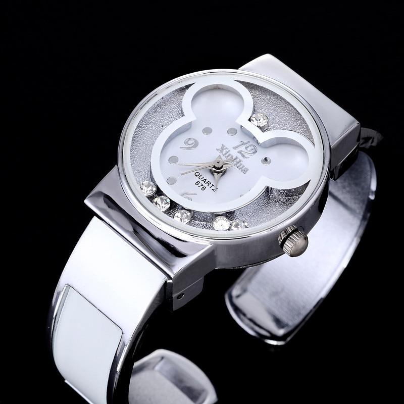 Watches Women Mickey Mouse Stainless Steel Women Watches Clock Ladies Watch Relojes Mujer Montre Femme Zegarek Damski 2019 Saati 3