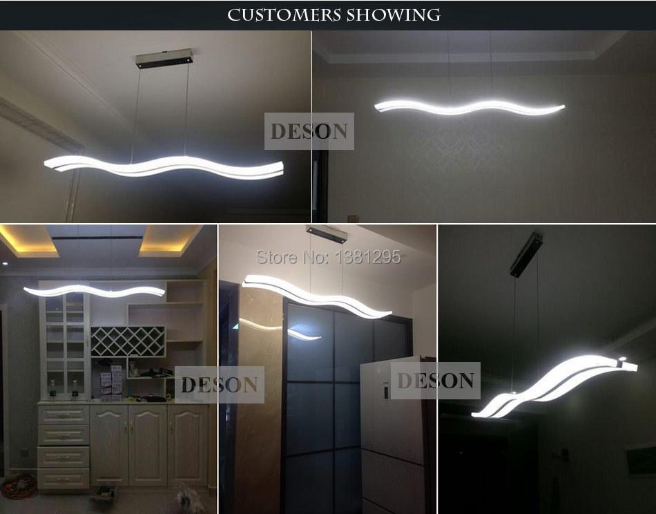 online shop led pendant lights modern design kitchen acrylic suspension hanging ceiling lamp dining table home lighting led avize lustre aliexpress mobile