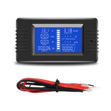 Battery Capacity Tester Coulometer 0-200V 0-10A 0-2000W Voltmeter Ammeter Voltage Current Impedance Capacity Energy Power Meter