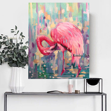 Abstract handmade impressionism Egret oil painting big canvas wall art the crane original animal oil painting for living room футболка selected 16060725 egret