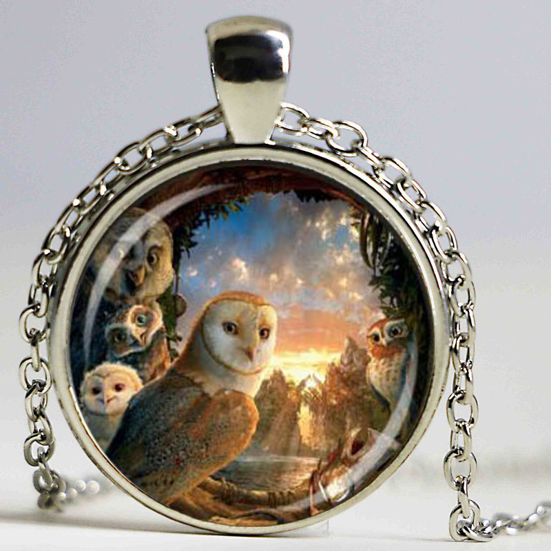 Legend of the Guardians pendant owl necklace movie handmade jewelry for fans