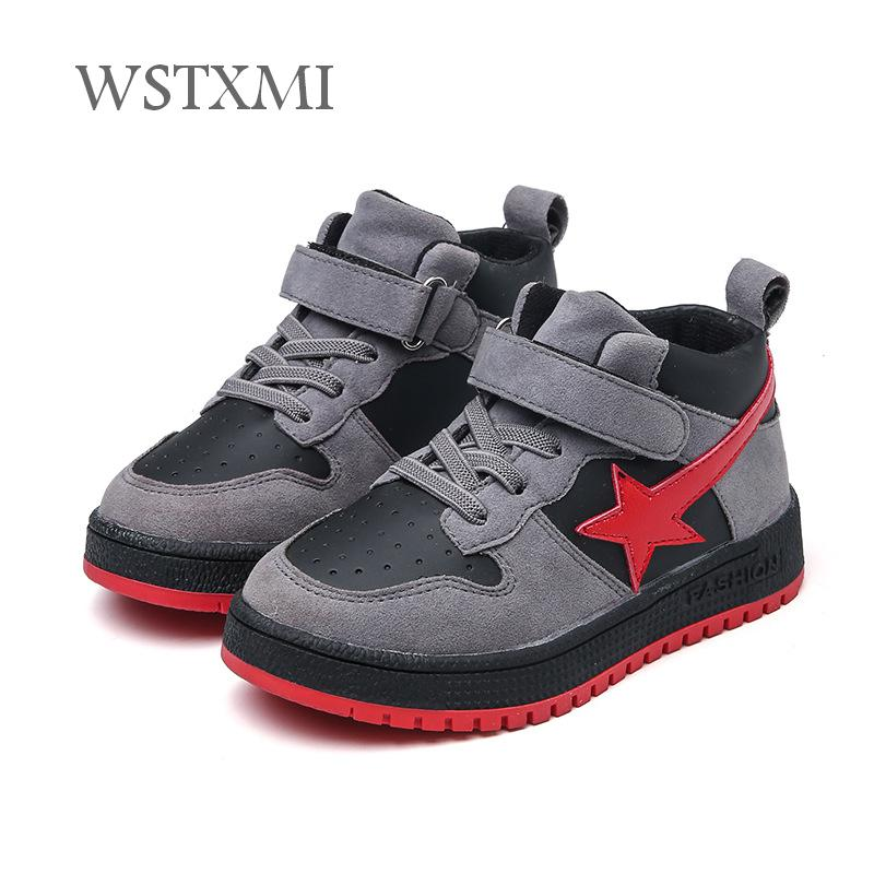 Children Sneakers For Boys Shoes Casual Girls Running Kids Black Sports Shoes Fashion Flat Soft Breathable Leather Outdoor Shoes