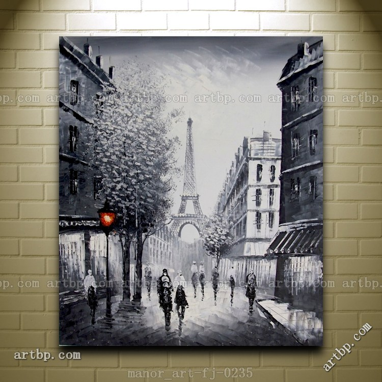 canvas wall modern art paris eiffel tower painted oil painting abstract music wall art kitchen. Black Bedroom Furniture Sets. Home Design Ideas