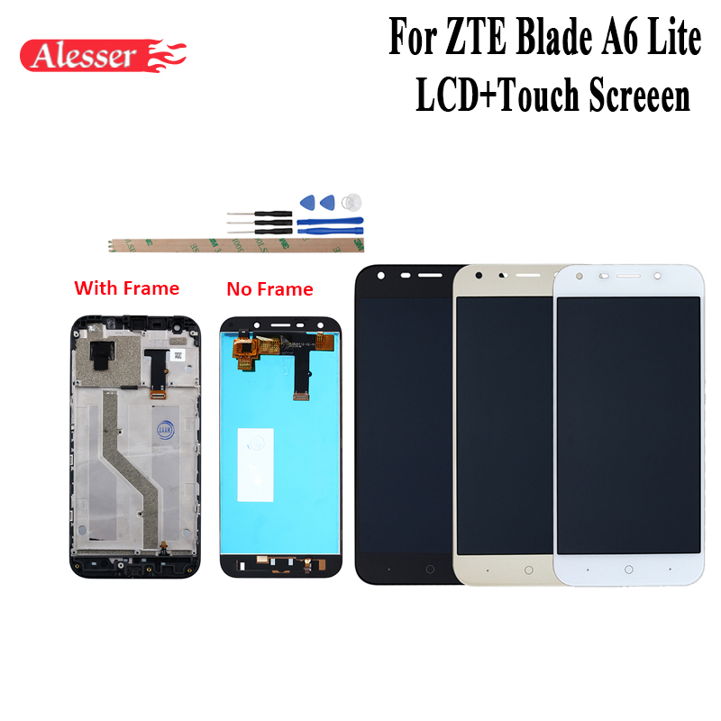 Alesser For ZTE Blade A6 A6 Lite LCD Display and Touch Screen With Frame Assembly Repair Parts With Tools For ZTE Blade A6 LiteAlesser For ZTE Blade A6 A6 Lite LCD Display and Touch Screen With Frame Assembly Repair Parts With Tools For ZTE Blade A6 Lite