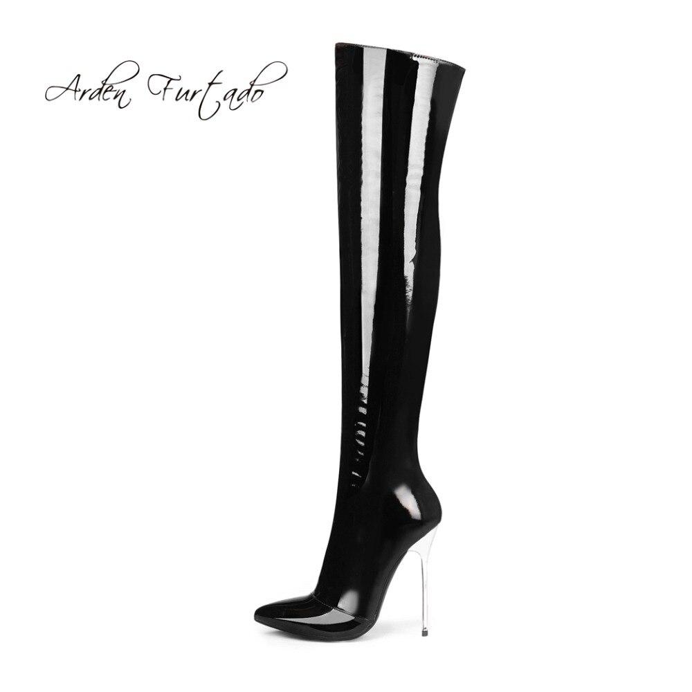 أردن Furtado 2019 الربيع الخريف الشتاء سستة أنحاء الركبة أفخم الأحذية أحذية الأحمر الخناجر الفخذ أحذية عالية القطب أحذية رقص-في أحذية فوق الركبة من أحذية على  مجموعة 1