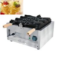 110 V 220 V elétrica ice cream máquina taiyaki peixe waffle  3 pcs boca aberta ice cream máquina de waffle peixe|Máquina de Waffle| |  -