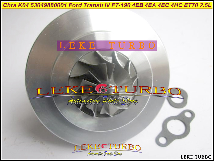 TURBO Cartridge CHRA Core K04 53049880001 53049700001 914F6K682AF For FORD Transit IV FT190 1991- 4EA 4EB 4HC 4GB 4GC 2.5L 100HP gt1749v turbo chra cartridge core 755042 767835 turbine rebuild kits for fiat croma ii 1 9 jtd 100hp turbos parts