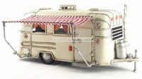 Antique classical camping RV car model retro vintage wrought handmade metal crafts for home/pub/cafe decoration or birthday gift