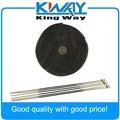 "Negro De Escape/Header Heat Wrap 1 ""x 50' Rollo Con Lazos Inoxidable Kit"