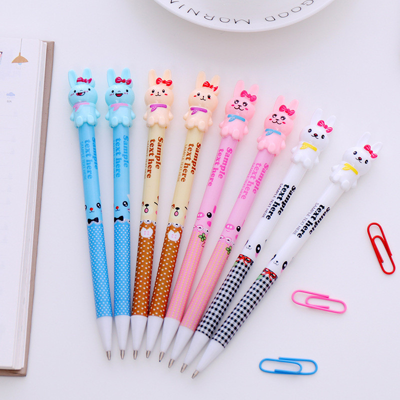 4Pcs Creative Cute Rabbit Mechanical Pencil 0.5/0.7mm School Stationery Store Graphite Automatic Pen Writing Tool Office Supply