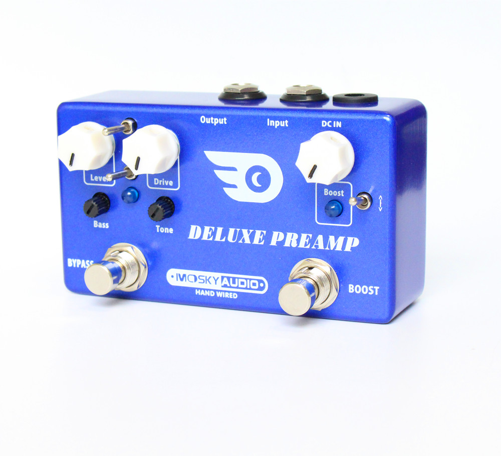 NEW Hand-Made DELUXE PREAMP guitar effect pedal Boost And Overdrive 2 effects in 1 with true bypass hand made loop electric guitar effect pedal looper true bypass 3 looper switcher guitar pedal hr 1