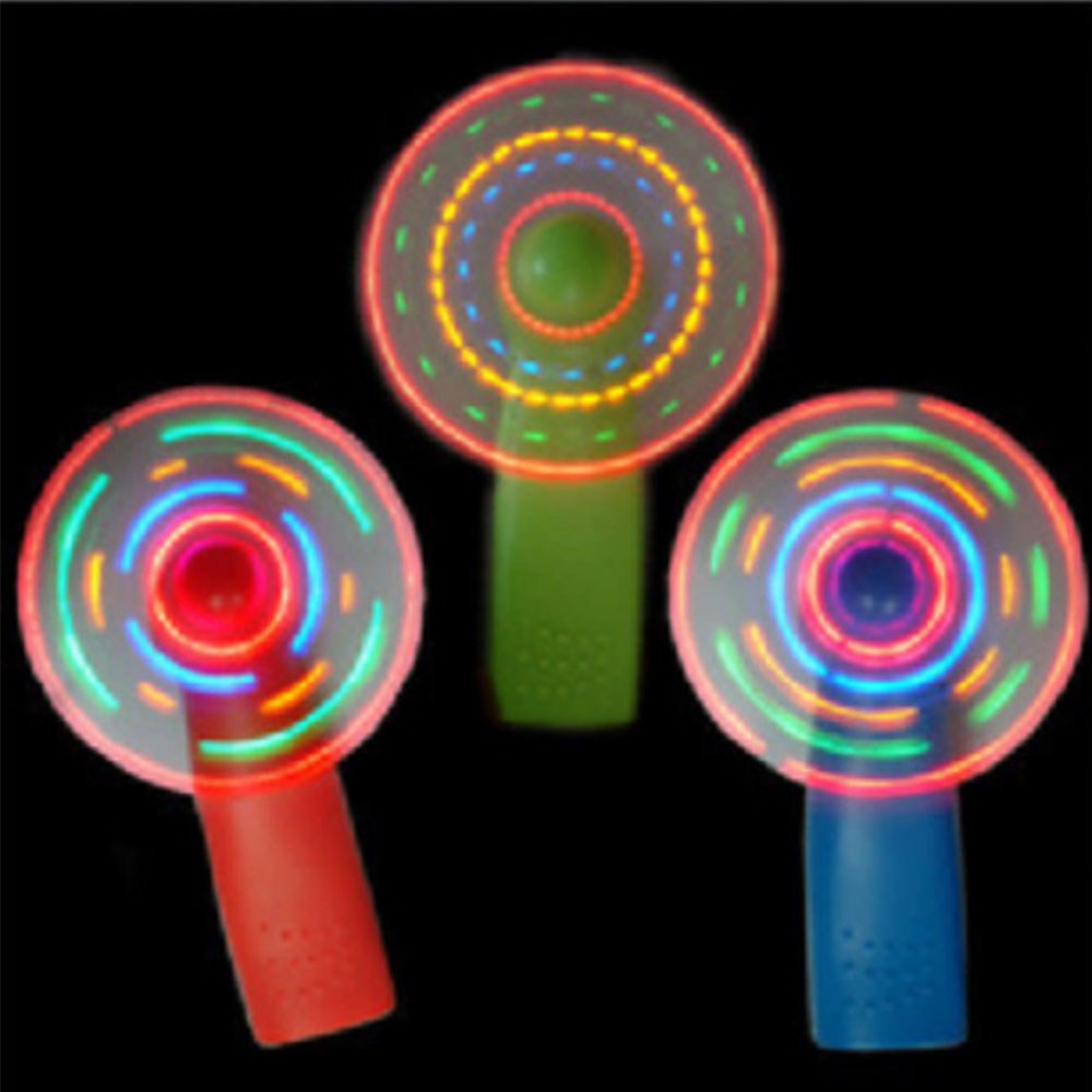 Mini Fan Colorful Lights Practical Light Luminous Toy Windmill Small Fans Child Plaything Color Random