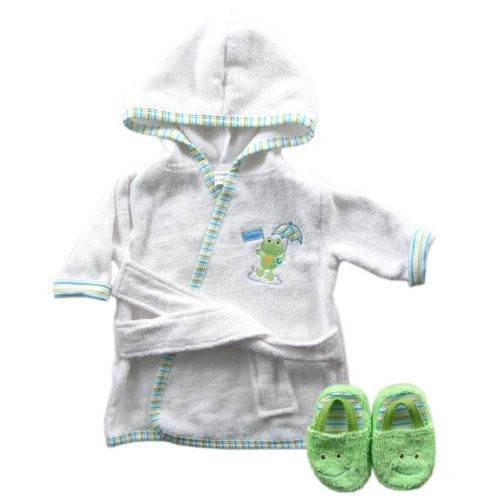 Luvable Friends 6 Designs Hooded Animal Modeling Baby Bathrobe with Baby Shoes 0-9 M Infant Bath Towels Baby Sleepwear & Robes (2)