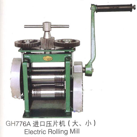 Hand Operate mini gold Rolling Mill jewelry rolling mill with Maximum opening