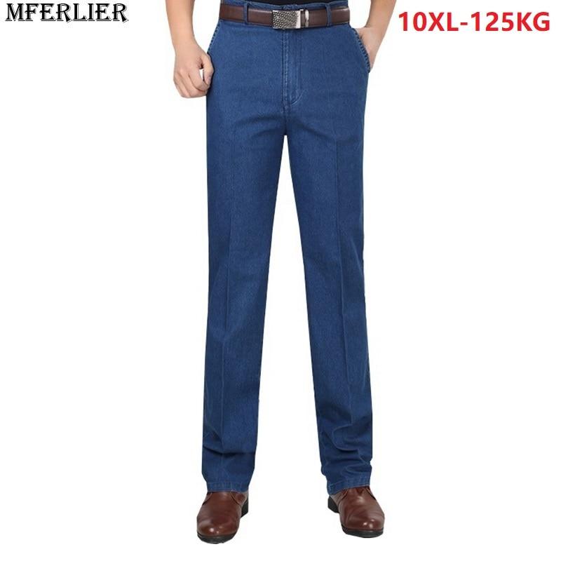 MFERLIER men   jeans   pants trousers stretch large size big 6XL 7XL 8XL 9XL 10XL 44 46 48 winter autumn classic casual   jeans   home