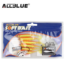 ALLBLUE Soft Lure 6pcs/lot 2.2g/70mm for Fishing Shad Fishing Swimbaits Jig Head Soft Lure Fly Fishing Bait Paddle Tail Lures