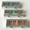 1 pc Dental Cassete Case Rack Suportes de Desinfecção Esterilização Tray Box para 5 pcs Instrumentos Cirúrgicos