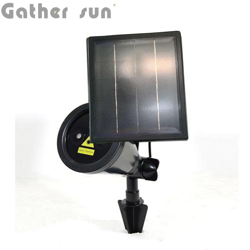 Gardem Solar Laser Light Outdoor Solar Power Panel Spotlight For Garden/Stage Decoration Light IP44 Waterproof High Quality 100w folding solar panel solar battery charger for car boat caravan golf cart