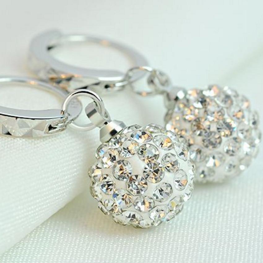 Pani Shambhala luksusowe kryształowe kolczyki w kształcie łezki - Modna biżuteria - Zdjęcie 2