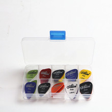 50pcs Alice Guitar Picks 1 box case Acoustic Electric Bass Pic Plectrum Mediator Musical Instrument Thickness mix 0.58-1.5 longteam guitar picks thickness 2 5mm plectrum solid wood fingerpicks musical instrument guitarra accessories can be drill