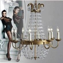 Milan Araña de la cocina para bar comedor dormitorio iluminación interior Araña de Cristal transparente Lustres led lampa