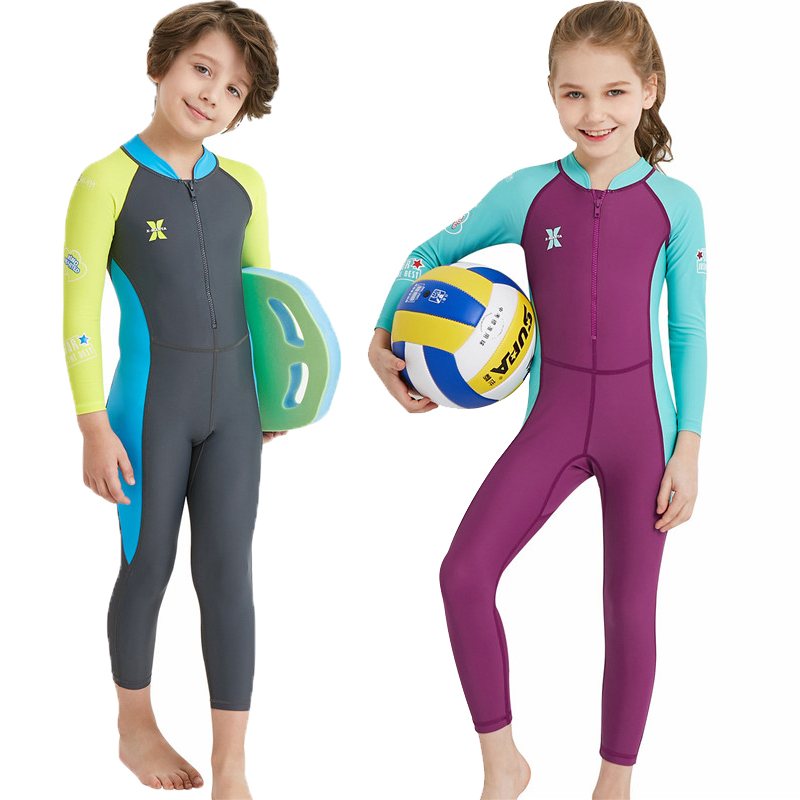 UV Protection Swimsuit Kids Snorkelling Wetsuit For Boys Girls Diving Suits Thermal Swimwear Surfing Rash Guards 2017 summer swimwear round neck t shirts rash vest woman rash guard sexy swimwear woman uv protection upper shirt upf 50