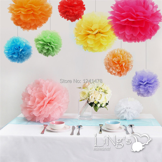 Us 14 72 20inch 50cm 5pcs Lot Giant Paper Pompoms Flowers Ball Hanging Wedding Birthday Party Decorations In Artificial Dried Flowers From Home