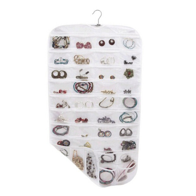 80 Pocket Hanging Jewelry Organizer Jewelry Display Earring Rings