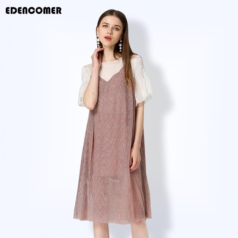 e202f6ffd1d D été Plus À Grande Mignon Rose Nouveau De 2018 Manches Taille Femmes Pour  Robes La Vêtements Courtes Lâche Robe wUXq0UrB