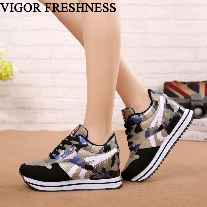 VIGOR FRESHNESS Woman Platform Shoes High Heels Camouflage Height Increase Shoes Autumn Pumps Women Shoes Tennis Sneakers WY310VIGOR FRESHNESS Woman Platform Shoes High Heels Camouflage Height Increase Shoes Autumn Pumps Women Shoes Tennis Sneakers WY310