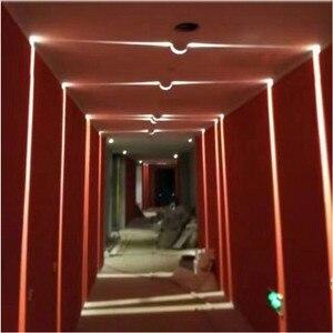 Image 4 - Thrisdar 10W RGB Led Window Door Frame Wall Lamp With Remote Hotel KTV Restaurant Spot light Aisle Corridor Ray liner Wall Light