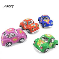 AOSST 4 Pieces New Style Echo Beetle Model Toy Pull Back Car Solid Colored Plated