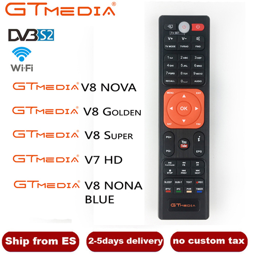 High Quality Remote Control For Gtmedia V7s Hd Satellite Tv Receiver Support Cccam Cline Receptor Freesat V7 Hd Remote Control