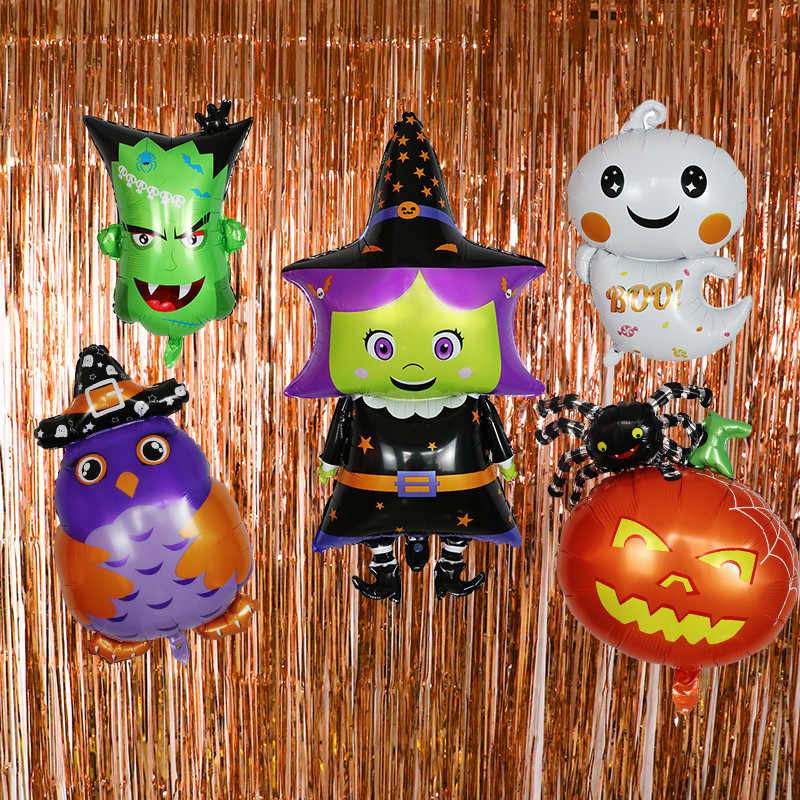 Halloween Vampirin Princess Little Girl Hulk Balloon Children's Toy Decoration Birthday Bat Halloween Party Ghost Bat Balloons