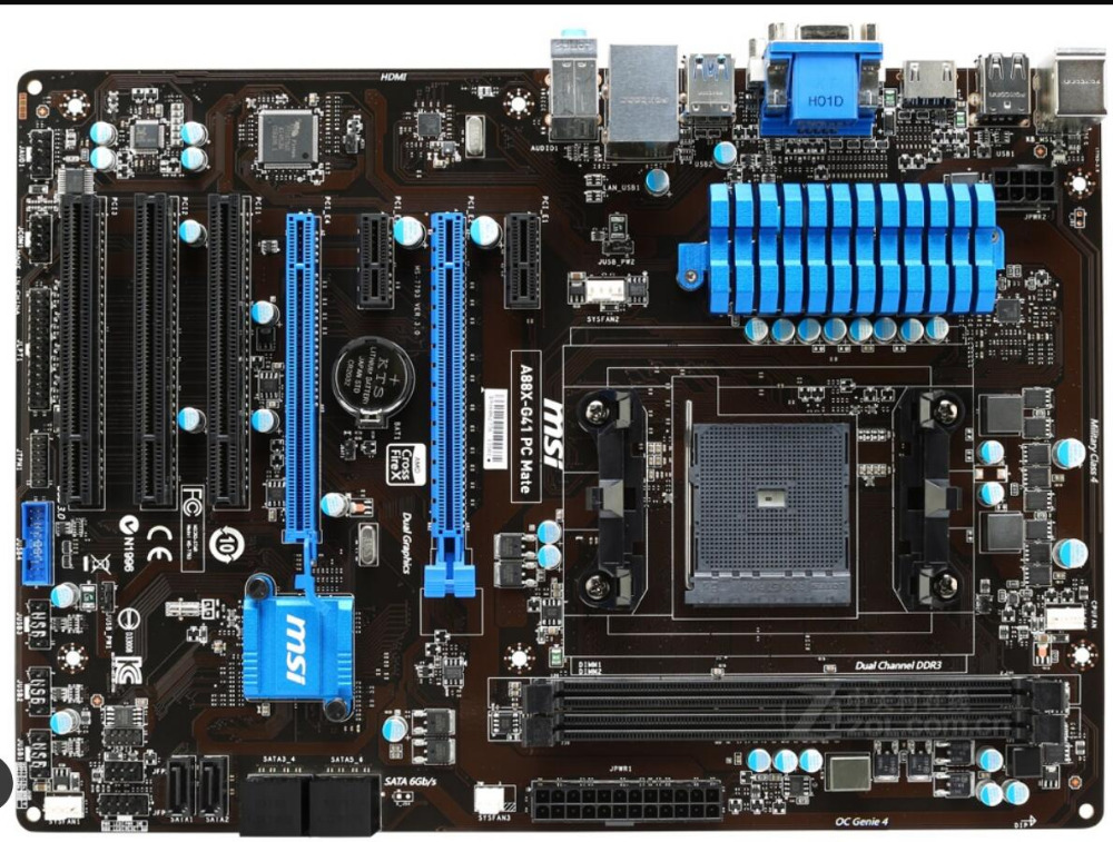 motherboard MSI A88X-G41 PC Mate FM2/FM2+ DDR3  A88X desktop motherboard  mainboard    free shippingmotherboard MSI A88X-G41 PC Mate FM2/FM2+ DDR3  A88X desktop motherboard  mainboard    free shipping