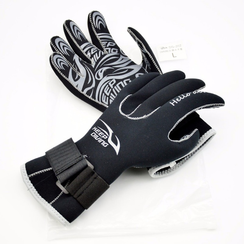 KEEP DIVING 3MM Neoprene Scuba Dive Gloves Snorkeling Equipment Anti Scratch Keep Warm Wetsuit Material Winter Swim Spearfishing