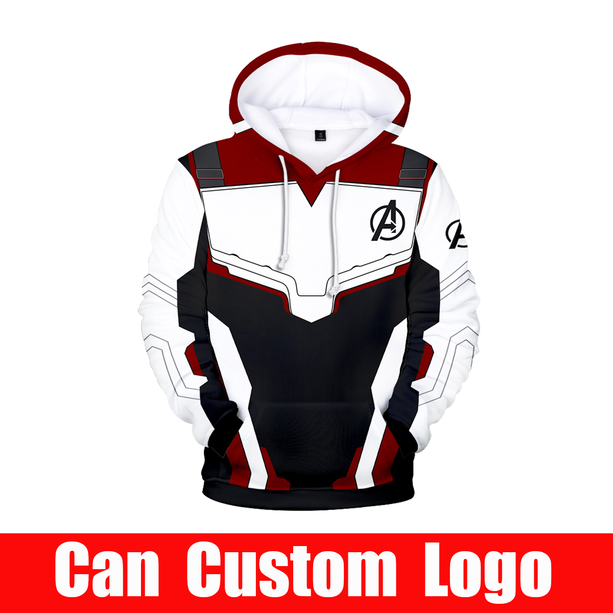 Sweatshirt Hoodies Costumes Superhero Avengers Endgame Iron Man Realm Quantum Cosplay