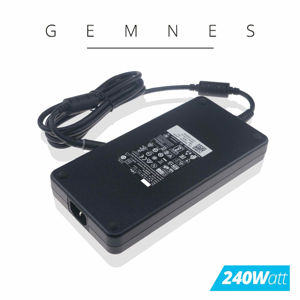 Original 240W AC Power Adapter for Dell <font><b>Alienware</b></font> <font><b>M17X</b></font> <font><b>R1</b></font> R2 R3 R4 Precision M6600 M6700 0MFK9 00MFK9 0FWCRC 0J211H 19.5V 12.3A image