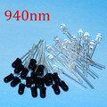 40pcs 5mm 940nm IR LED Assorted Infrared Emitter And IR Receiver Diode 20pairs Diodes 5mm 940nm IR Infrared LED Diode LED Lamp