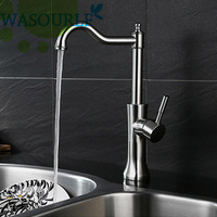 Kitchen Stainless Steel 304 Hot And Cold Water Faucet Basin Single Handle Tap Modern Design High
