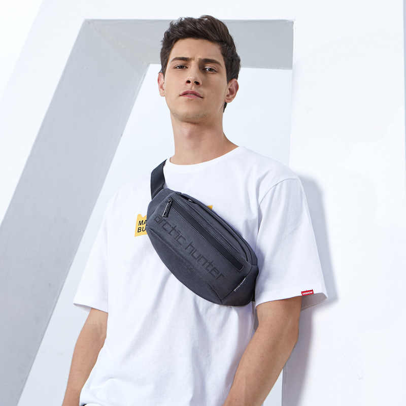 CAÇADOR ÁRTICO dos homens novos moda casual peito bolsa de ombro pacote diagonal saco bolsos saco de viagem portátil dos homens desgaste à prova d' água saco