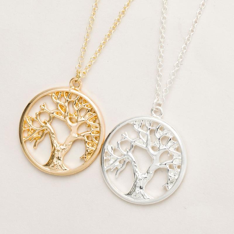 Yiustar Lebensbaum Form Einfache Halskette In Gold Großhandel Tiny - Modeschmuck - Foto 3