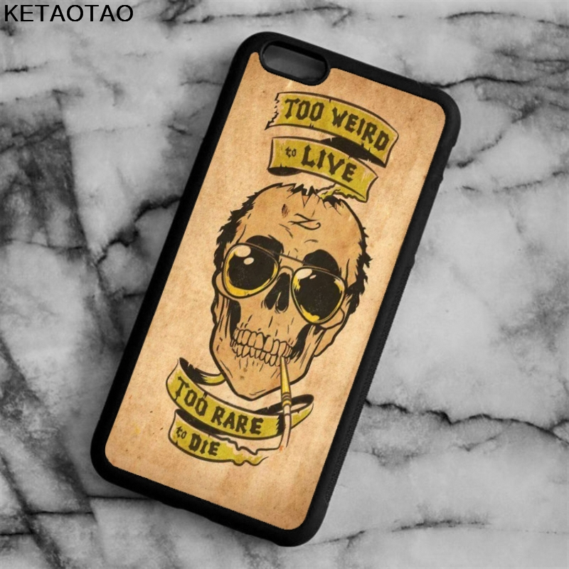 KETAOTAO Fear And Loathing Skull Phone Cases for iPhone 4S 5S 6 6S 7 8 X PLUS for Samsung S8 NOTE Case Soft TPU Rubber Silicone